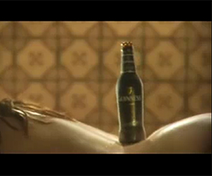 Guinness Advert – Bottle on girls back