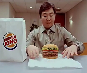 Burger King Commercial Eat Like a Snake