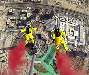 World Record Base Jump: Burj Khalifa In Dubai